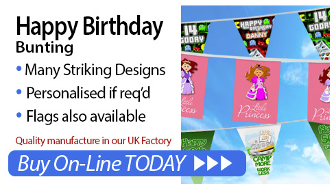 personalised Birthday bunting for sale