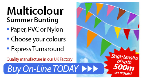Multicolour bunting image