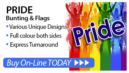 Pride Bunting and Pride Flags for sale online