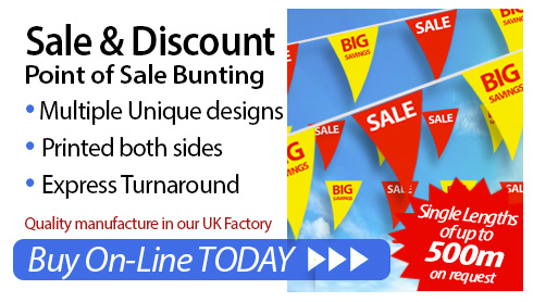 Sale and Discount - point of sale bunting