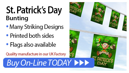 St. Patrick's Day Bunting and Flags for sale