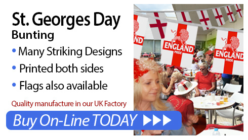 St. George's Day bunting and flags for sale