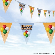 Happy Birthday Bunting - Balloons Design
