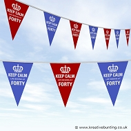 40th Birthday Bunting - Keep Calm Design