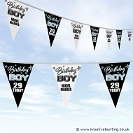 Personalised Birthday Bunting - Birthday Boy Design