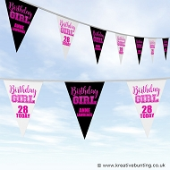 Personalised Birthday Bunting - Birthday Girl Design
