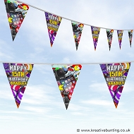 Personalised Birthday Bunting - Teenager Tech Design
