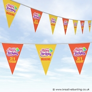 Personalised Birthday Bunting - Happy Birthday Design 1