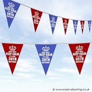 Personalised Birthday Bunting - Keep Calm Design