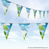 Animal Bunting - Cute Budgie Bird Design