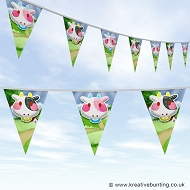 Animal Bunting - Cute Cow Design