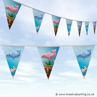 Animal Bunting - Cute Dolphin Design