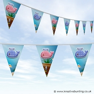 Animal Bunting - Cute Whale Design