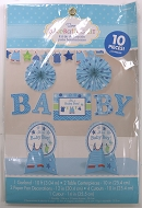 Baby Shower 10 Piece Room Decoration Kit for Baby Boy