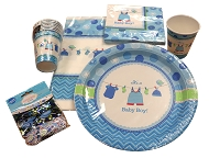 Baby Shower Party Pack - Boy Blue