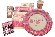 Baby Shower Party Pack - Girl Pink