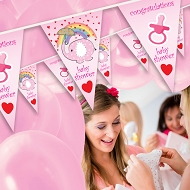 Baby Girl - Baby Shower Bunting  - Design 1