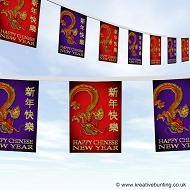 Happy Chinese new year Dragon bunting design 3