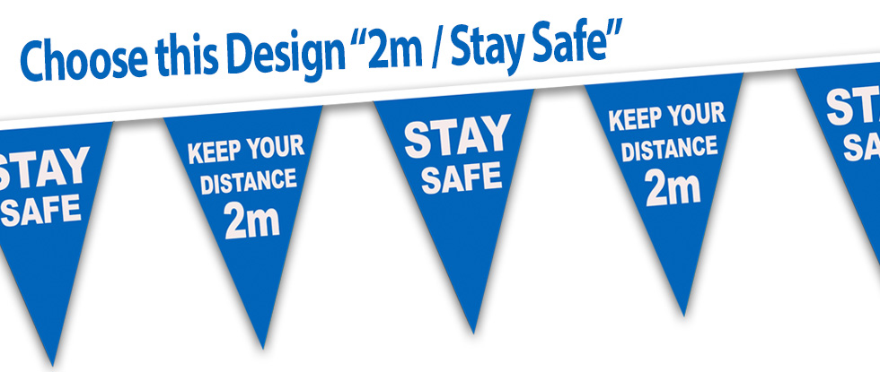 NHS Stay Safe 2 metre bunting