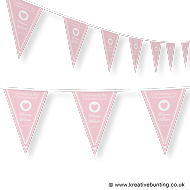 Personalised Christening Bunting Pink Design 2
