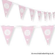 Personalised Christening Bunting Pink Design 1