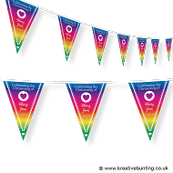 Personalised Christening Bunting Rainbow Design 2