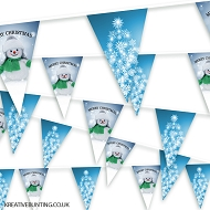 Christmas Bunting - Snowflake Christmas Tree and Snowman