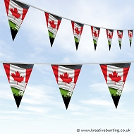 Sports Fan Bunting - Canada Flag Design