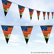 Sports Fan Bunting - Samoa Flag Design