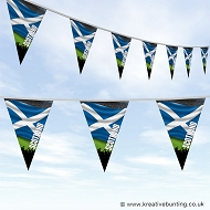 Sports Fan Bunting - Scotland Flag Design