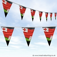 Sports Fan Bunting - Tonga Flag Design