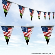 Sports Fan Bunting - USA Flag Design