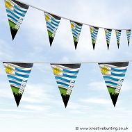Sports Fan Bunting - Uruguay Flag Design
