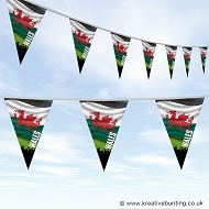 Sports Fan Bunting - Wales Flag Design