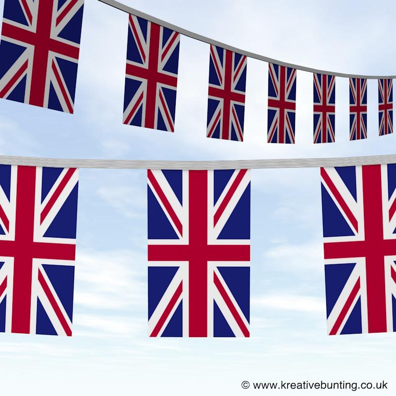 FREE UK Delivery NEW 4 x 4 Metre 10 Flag Union Jack British Bunting