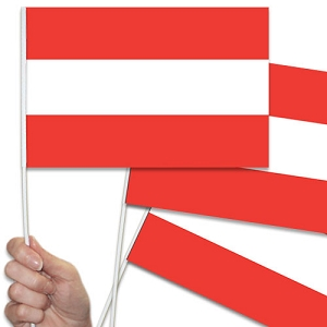 Austria / Austrian Handwaving Flags - 10 Pack