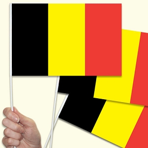Belgium Handwaving Flags - 15 Pack