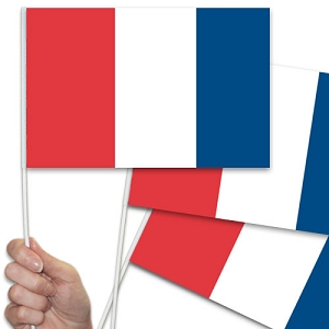 French / France Handwaving Flags - 10 Pack
