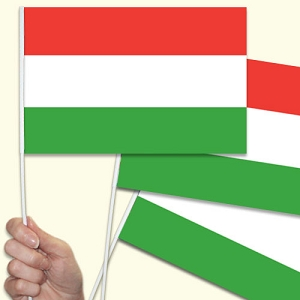 Hungry / Hungarian Handwaving Flags - 10 Pack