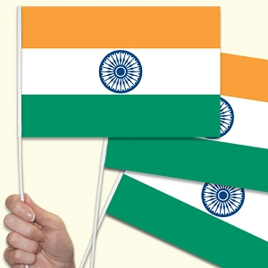 India Handwaving Flags - 15 Pack