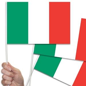 Italian/Italy Handwaving Flags - 15 Pack