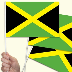 Jamaica Handwaving Flags - 10 Pack
