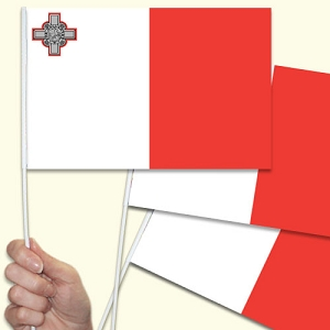Malta Handwaving Flags - 15 Pack