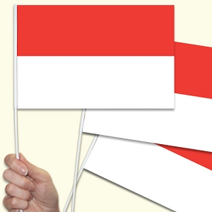 Monaco Handwaving Flags - 10 Pack