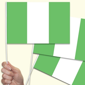 Nigeria Handwaving Flags - 15 Pack