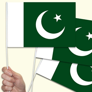 Pakistan Handwaving Flags - 15 Pack