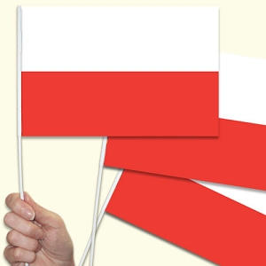 Poland Handwaving Flags - 10 Pack