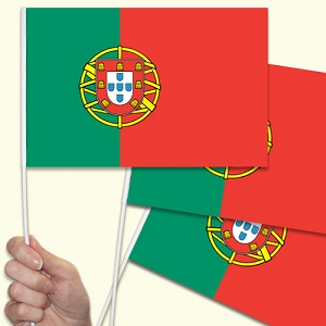 Portugal / Portuguese Handwaving Flags - 10 Pack
