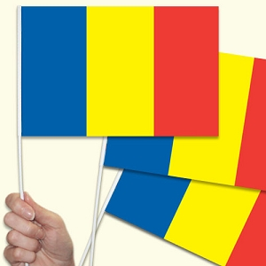 Romania Handwaving Flags - 15 Pack