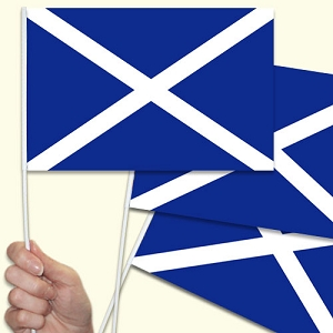 Scotland / Scottish Handwaving Flags - 10 Pack